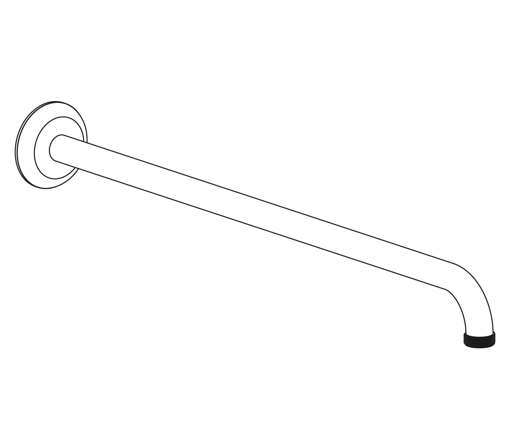 c46-2w450 bras de douche mural 450mm