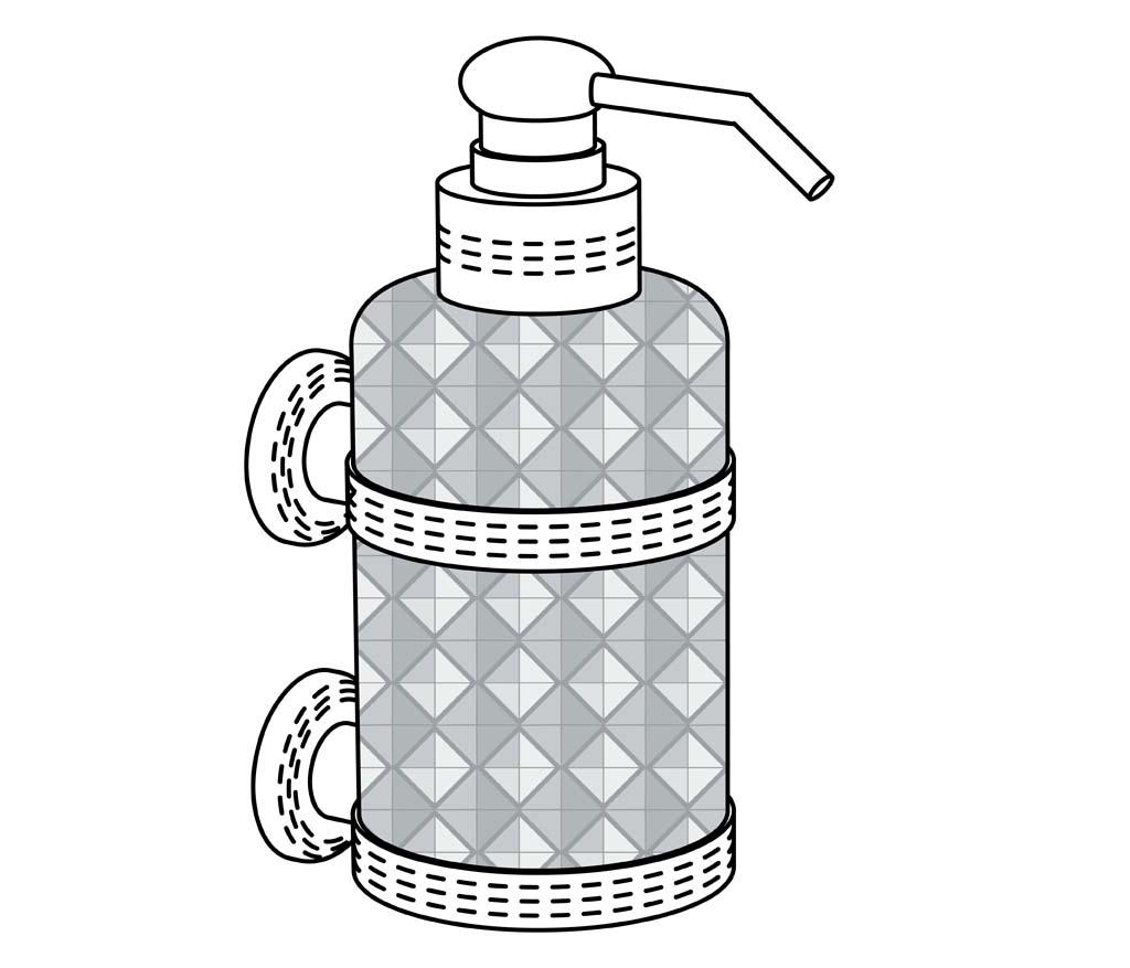 c46-532 distributeur de savon liquide mural