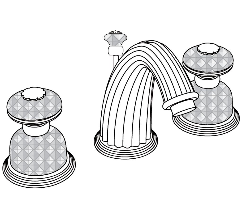 C47-1301 Mélangeur de lavabo 3 trous