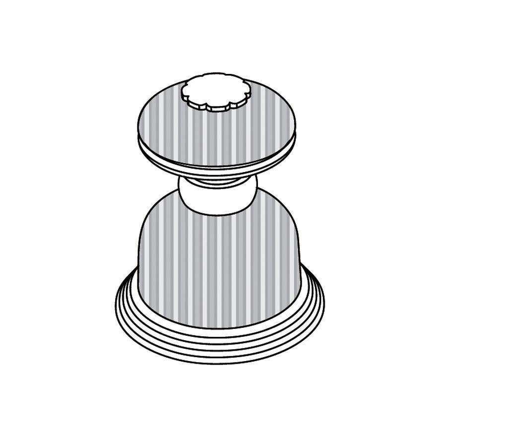 C50-126H Robinet d'alimentation 1/2″ sur gorgeC