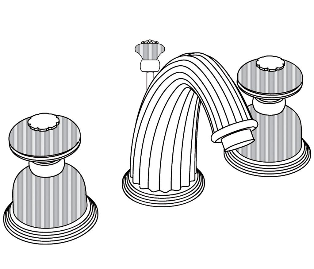 C50-1301 Mélangeur de lavabo 3 trous