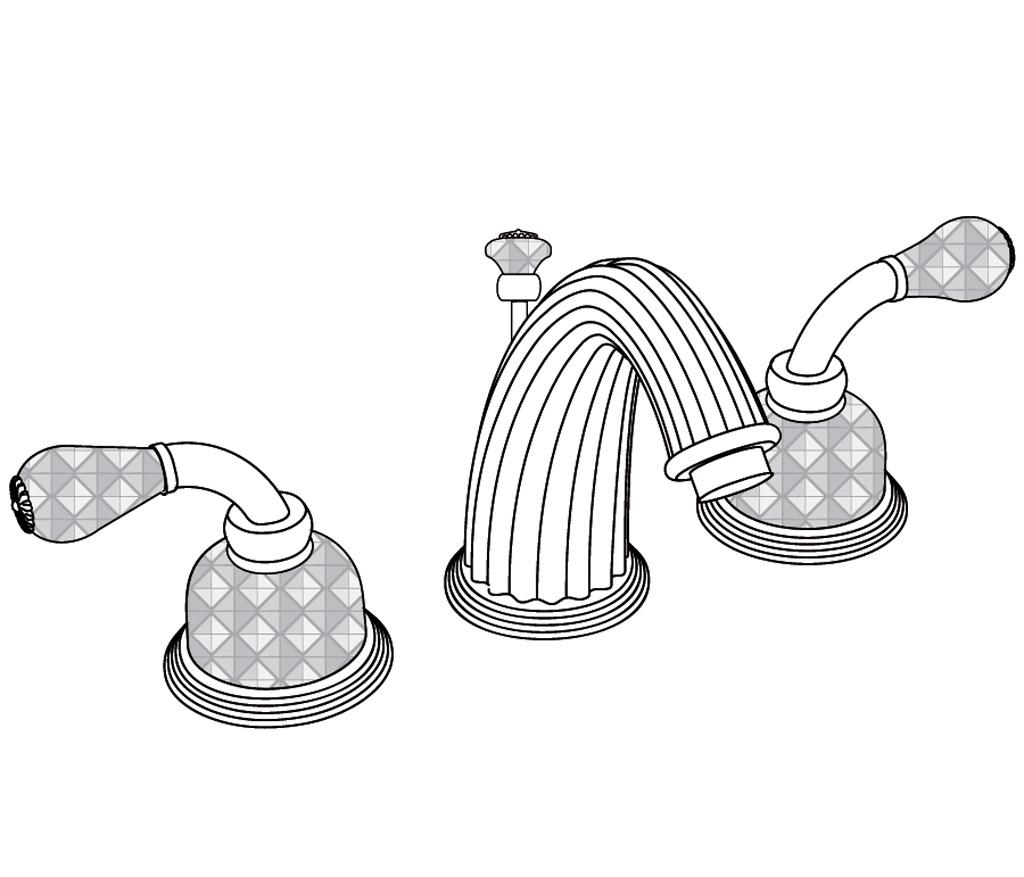 C56-1301 Mélangeur de lavabo 3 trous