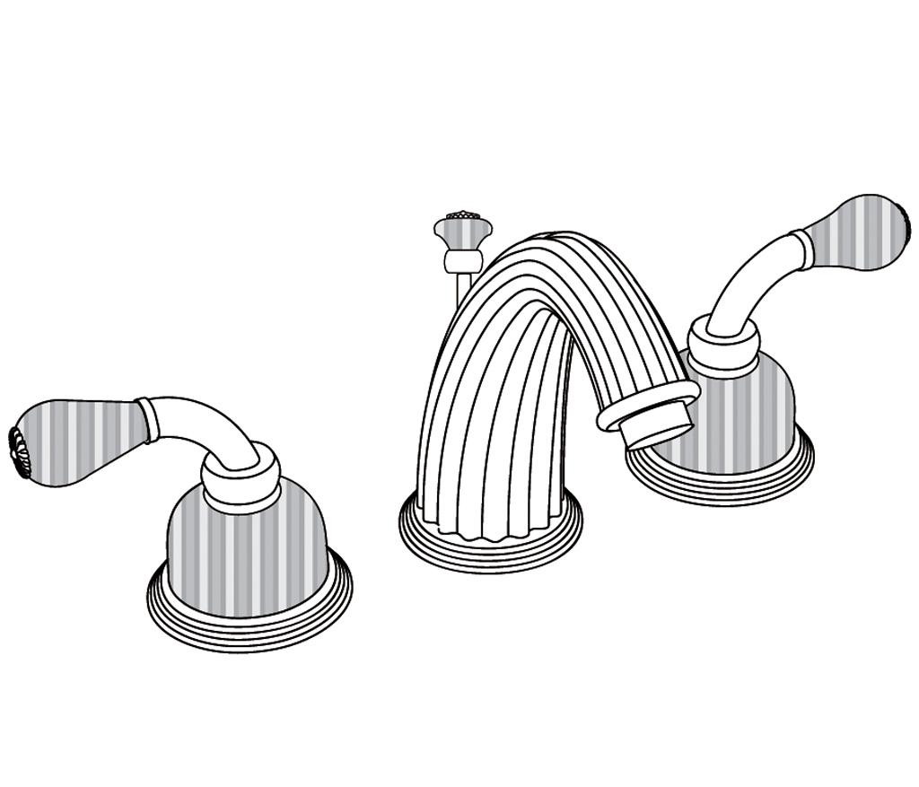 C59-1301 Mélangeur de lavabo 3 trous