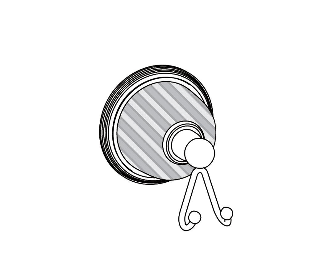 C59-501 Porte-gants deux crochets