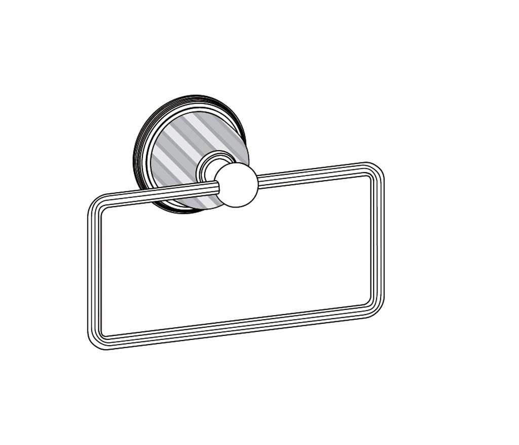 C59-511 Porte-serviette rectangle