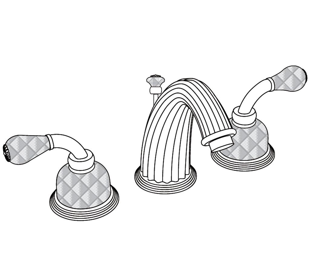 C62-1301 3-hole basin mixer