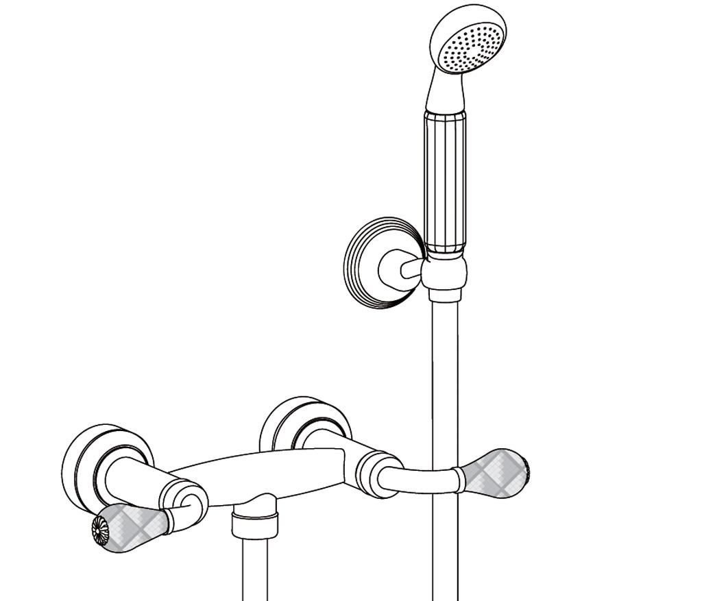 C62-2201 Wall mounted shower mixer