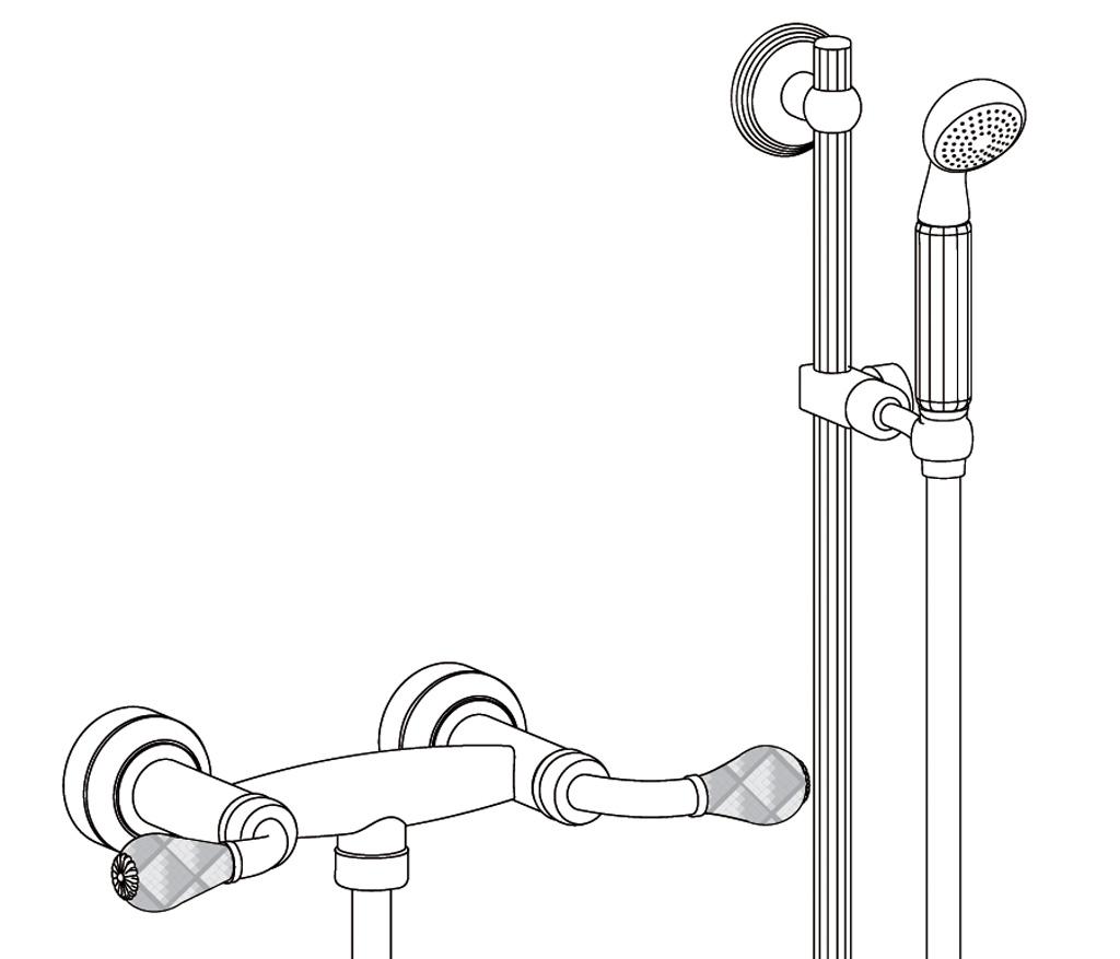 C62-2202 Wall mounted shower mixer