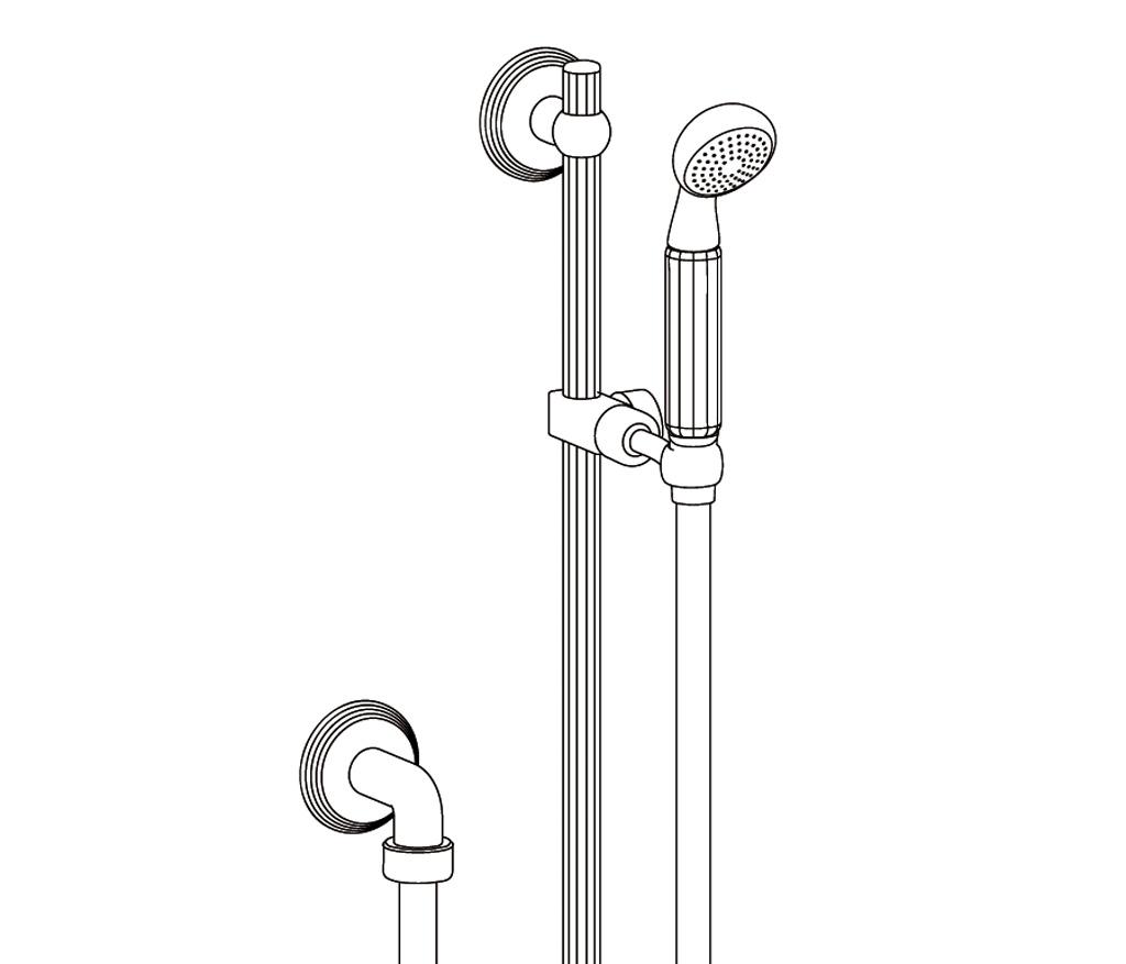 C62-2211 Wall shower set on sliding bar