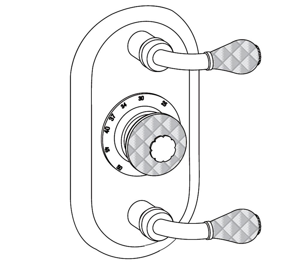 C62-2R22 Oval trim set