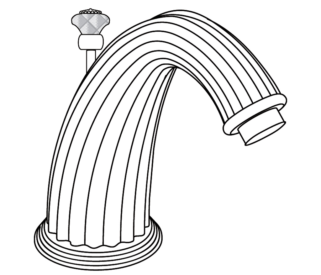C62-3S1D Rim mounted bath spout