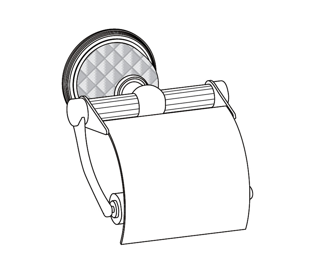 C62-503 Wall mounted toilet roll holder