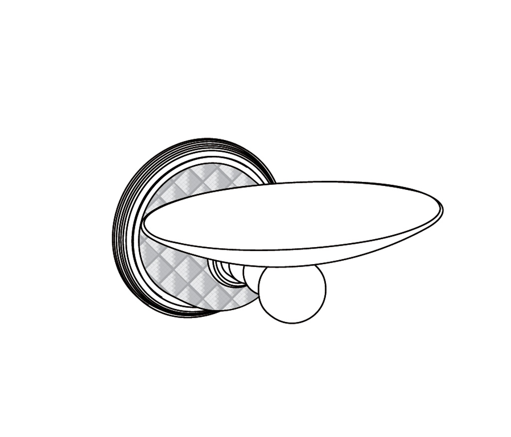 C62-514 Wall mounted oval soap dish