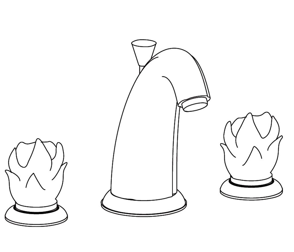 C65-1301 Mélangeur de lavabo 3 trous
