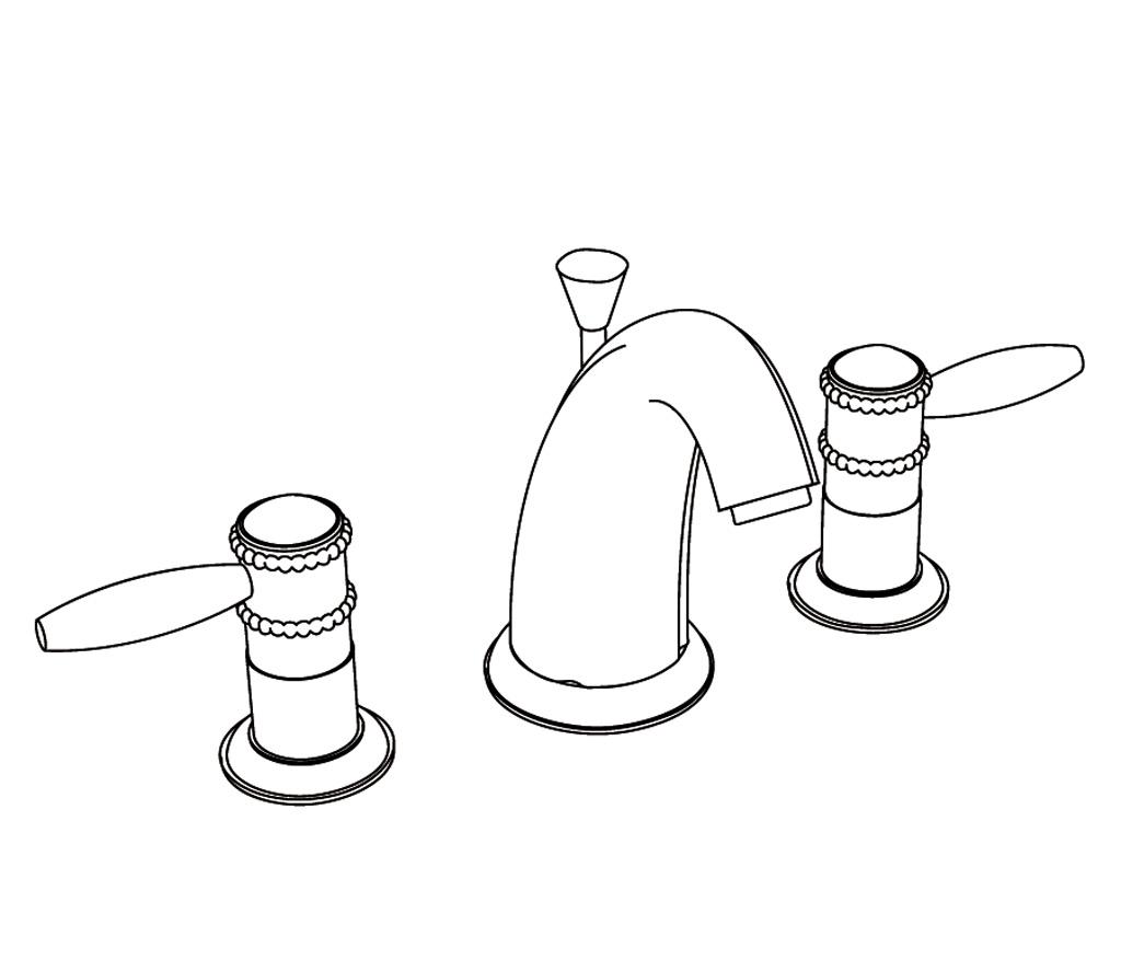 c66-1301 mélangeur de lavabo 3 trous