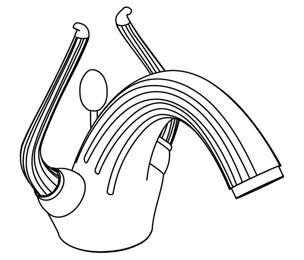 C67-1101 Monotrou de lavabo