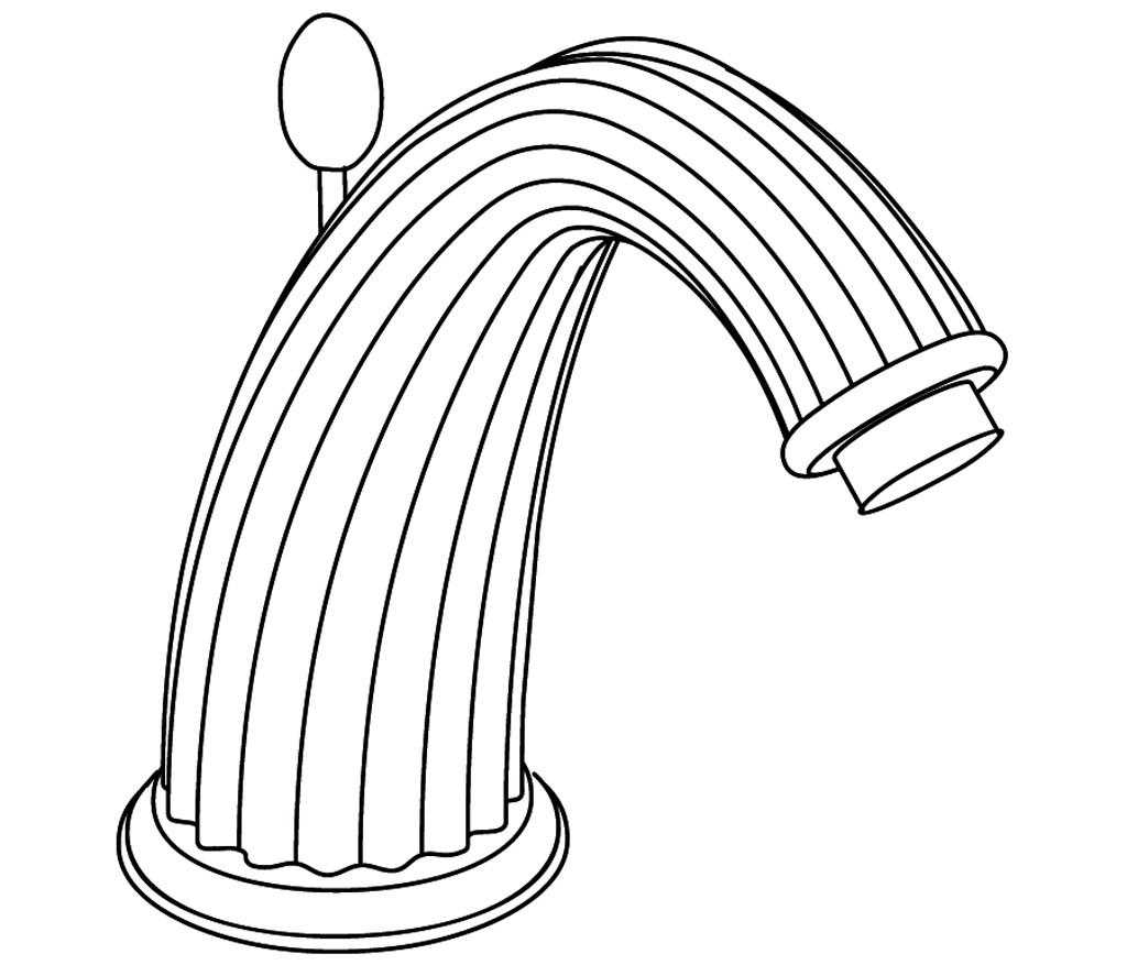 C67-1S1 Bec de lavabo sur gorge