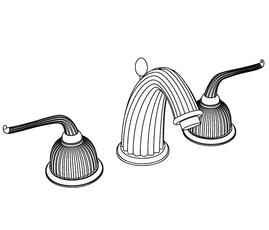 C68-1301 Mélangeur de lavabo 3 trous