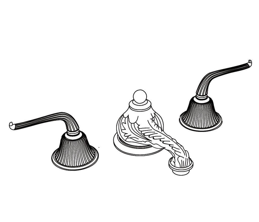 C69-1301 Mélangeur de lavabo 3 trous