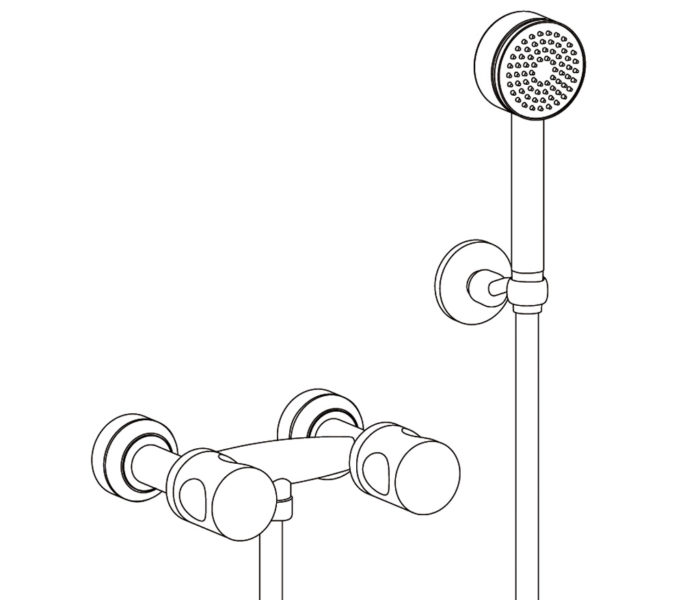 2201 Wall mounted shower mixer