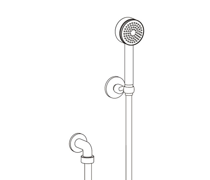 2212 Wall shower set on fixed hook