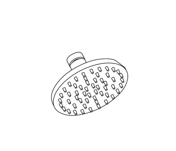 """2413 """"Picots"""" round shower Ø120mm"""