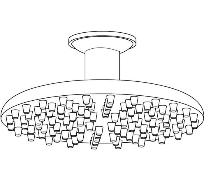 """2414 """"Picots"""" round shower Ø260mm"""