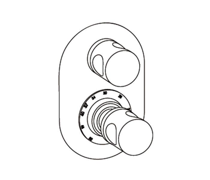 2R21 Plaque ovale