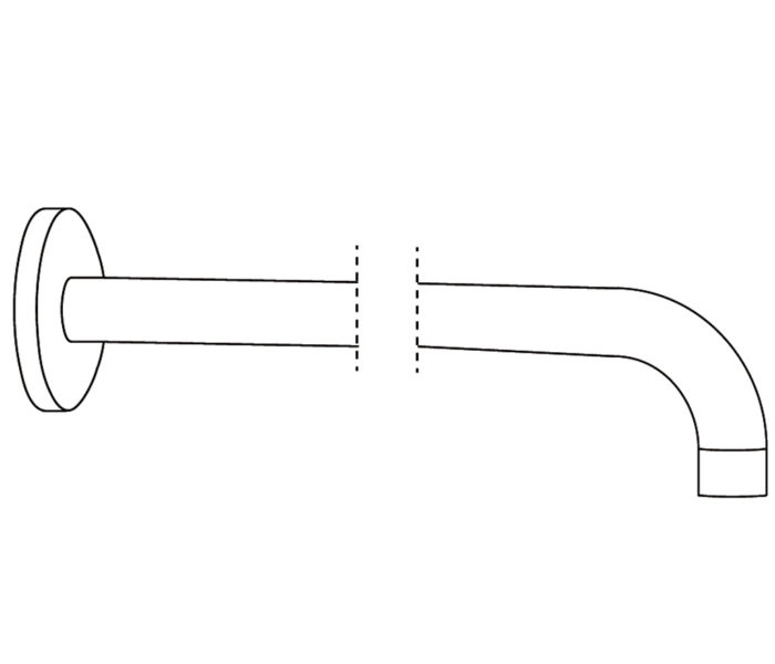 2W450 Wall mounted shower arm