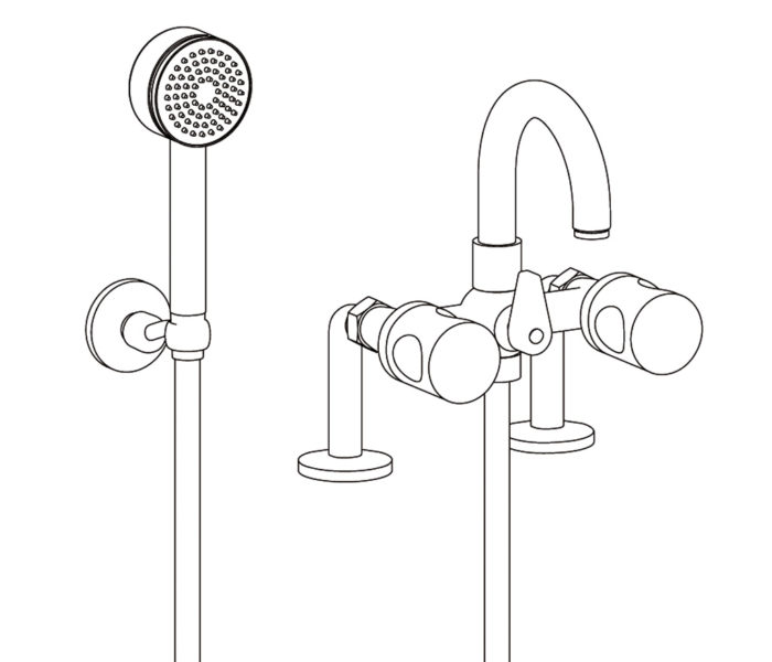 3306 Bath & telephone shower monobloc