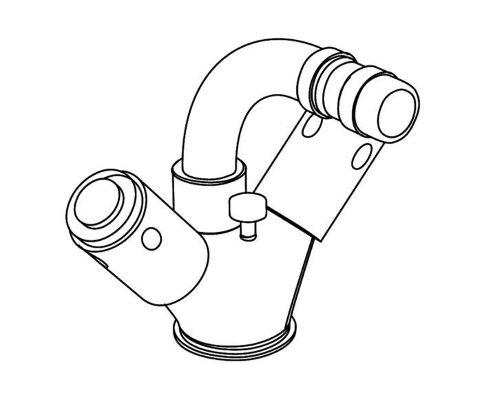 4101 Single hole bidet mixer