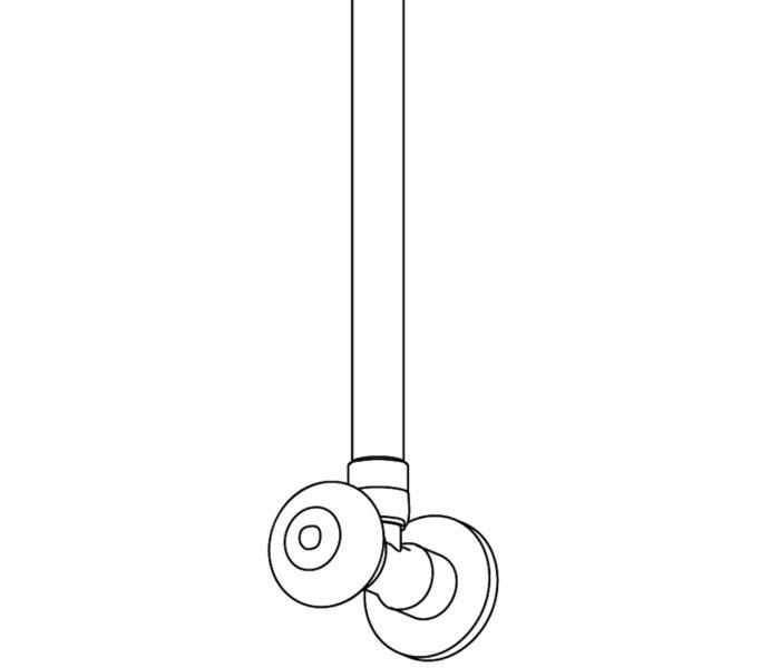 "425 Regulating angle valve 1/2"""