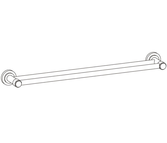 509 Wall mounted double towel bar